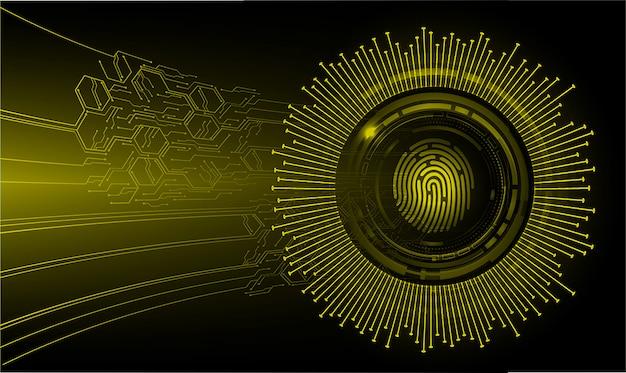 Rete di impronte digitali cyber sicurezza sfondo.