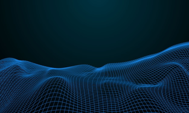 Rete di particelle di nebbia sicurezza informatica. sfondo tecnologia big data.