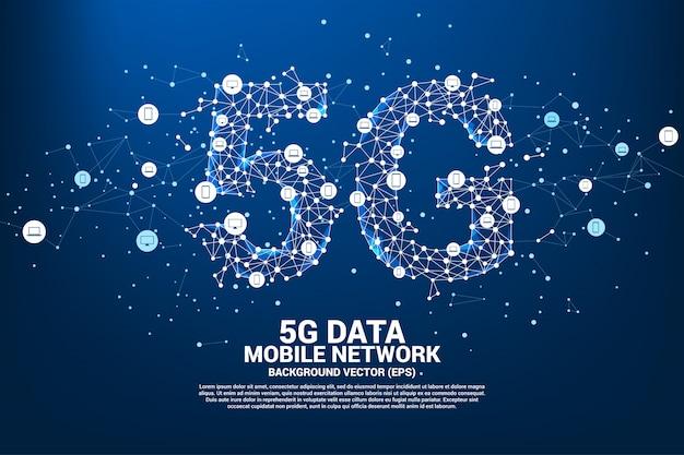 Rete di rete mobile 5g.