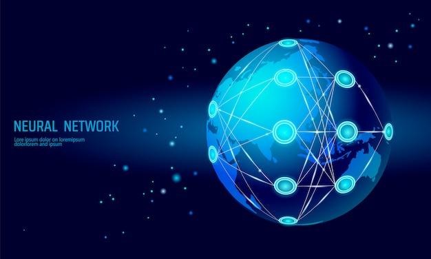 Rete internazionale neurale, rete globale di neuroni, apprendimento profondo cognitivo
