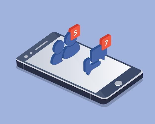 Rete sociale e vettore isometrico di chiacchierata