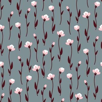 Reticoli senza giunte dell'annata dei fiori. in stile scandinavo.