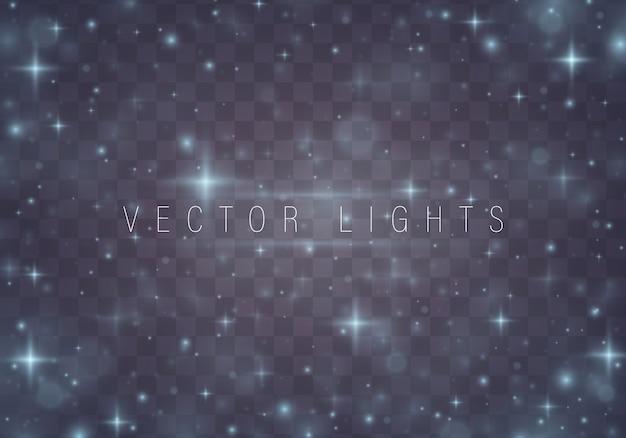 Reticolo astratto di natale stelle brillanti su fondo blu