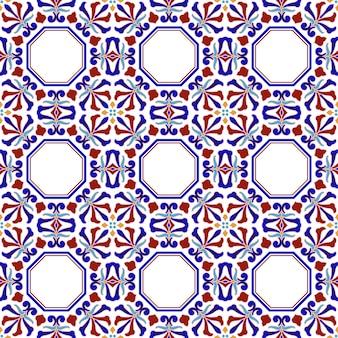 Reticolo delle mattonelle dell'annata con patchwork colorato