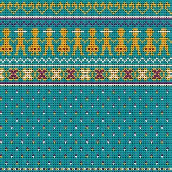 Reticolo di maglia di natale delle nonne