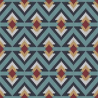 Reticolo lavorato a maglia astratto geometrico.