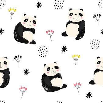 Reticolo senza giunte con i panda