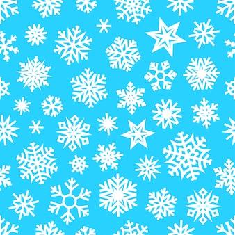 Reticolo senza giunte dei fiocchi di neve bianchi di inverno