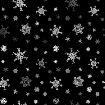 Reticolo senza giunte del fiocco di neve di natale con neve di caduta piastrellata