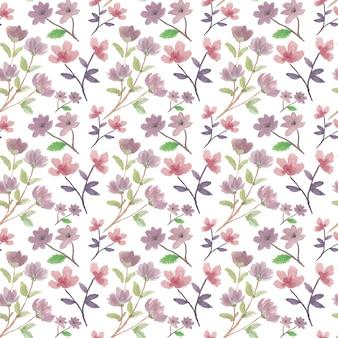 Reticolo senza giunte del fiore dell'acquerello colorato estate