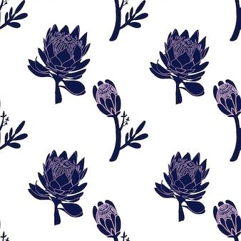 Reticolo senza giunte del fiore di re protea
