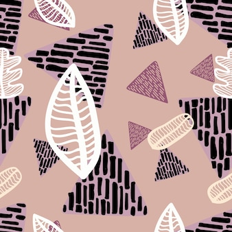 Reticolo senza giunte del foglio di autunno con il triangolo disegnato a mano