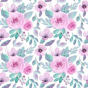 Reticolo senza giunte dell'acquerello del fiore viola