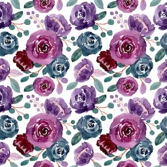 Reticolo senza giunte dell'acquerello floreale colorato