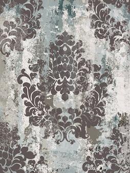 Reticolo senza giunte dell'ornamento dell'annata. design di lusso in stile barocco rococò. decori tessili reali.