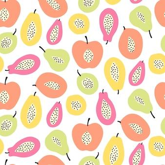 Reticolo senza giunte della frutta astratta