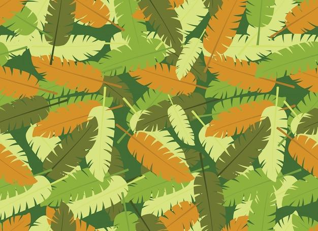 Reticolo senza giunte di foglie tropicali