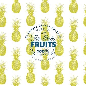 Reticolo senza giunte di frutta ananas.
