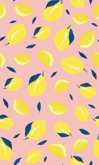 Reticolo senza giunte di frutti di limone