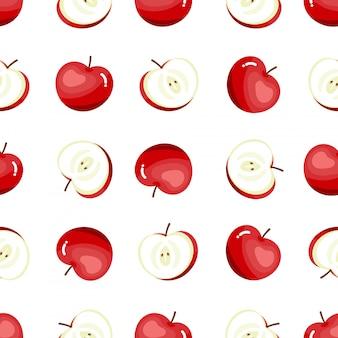 Reticolo senza giunte di mele rosse.