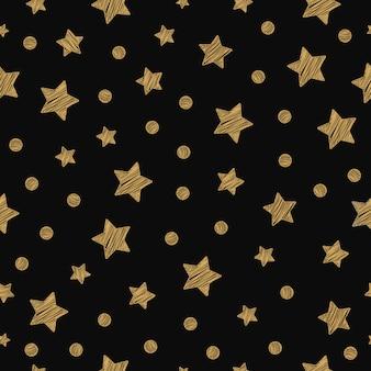 Reticolo senza giunte di stelle dorate di natale