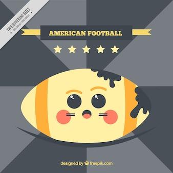Retro american football background