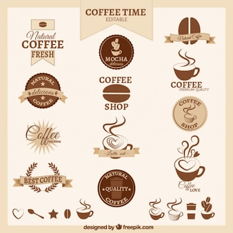 Retro badge caffè