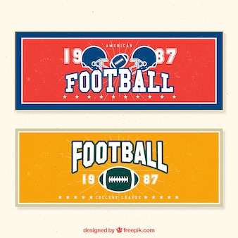 Retro bandiere di football americano