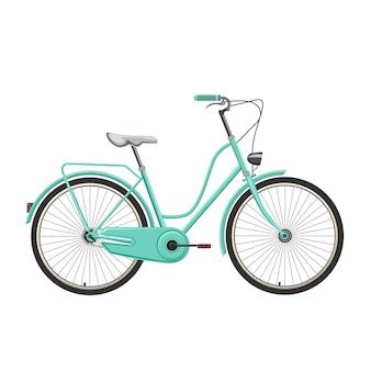 Retro bicicletta vettoriale e illustrazione.