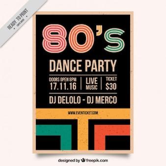 Retro colorata brochure strisce degli anni ottanta