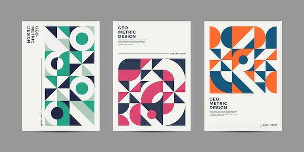 Retro copertina geometrica