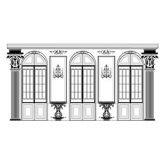 Retro disegno edificio