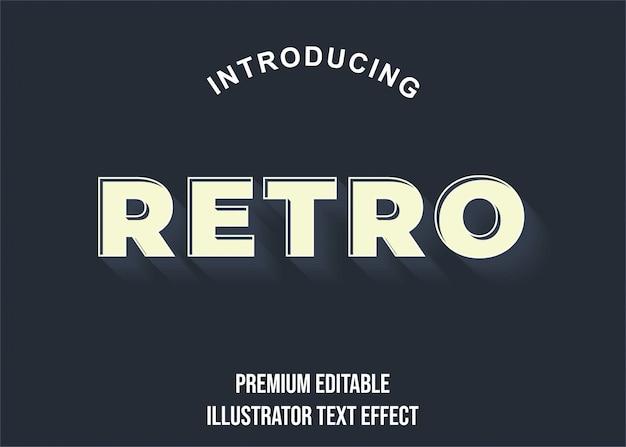 Retro - effetti di carattere stile testo vecchio stile 3d