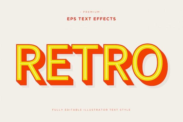 Retro effetto di testo 3d