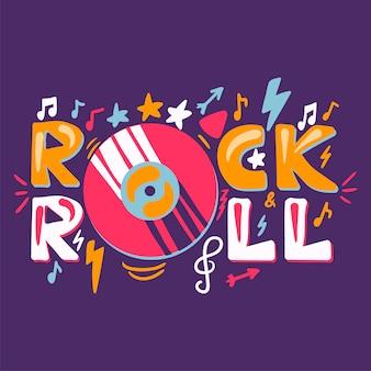 Retro etichetta rock n roll