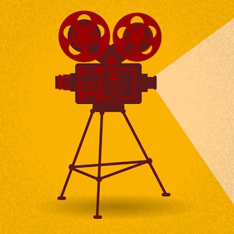 Retro film proiettore cinema cinema