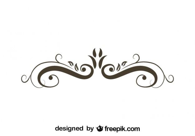 Retro floreale elemento grafico ornamentali