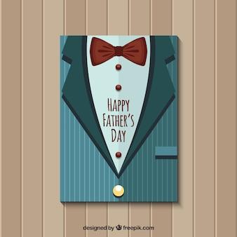 Retro giacca con fiocco di arco per il giorno del padre