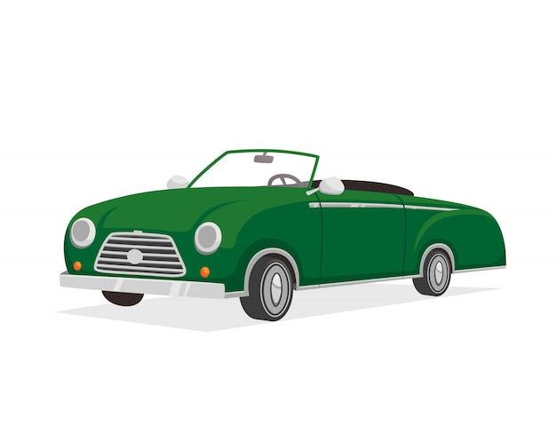 Retro illustrazione di cabriolet
