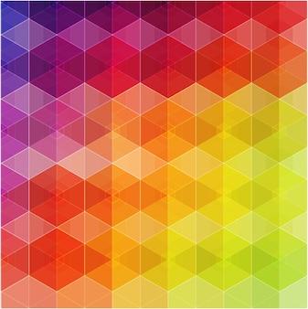 Retro modello senza cuciture di forme geometriche.