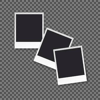 Retro photo frame template per le tue foto.