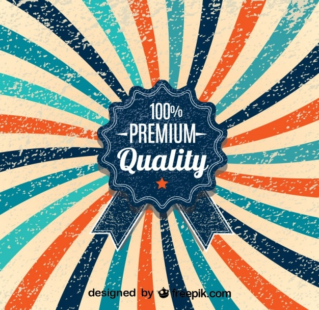 Retrò raggera design 100% manifesto qualità premium