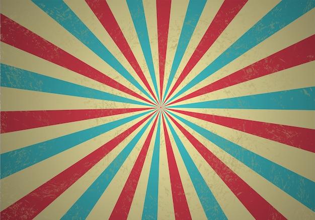 Retro raggi di luce manifesto di prestazioni del circo