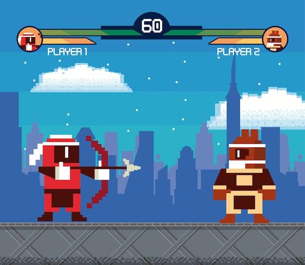 Retro scheda di sfondo arcade videogame schermo