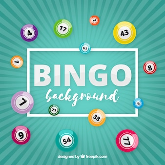 Retro sfondo con le palle di bingo