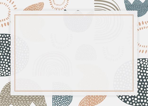 Retro sfondo cornice stampata