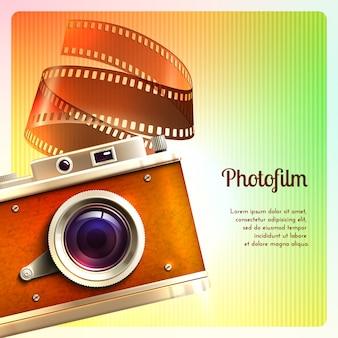 Retro sfondo della fotocamera