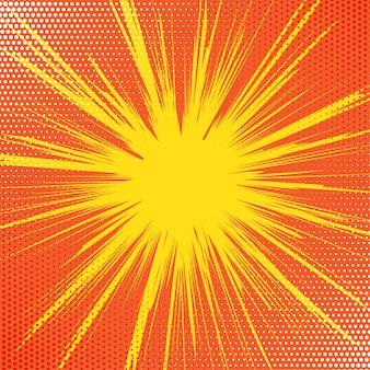 Retro sfondo starburst