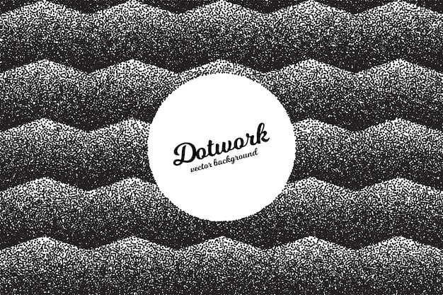 Retro stile dotwork background