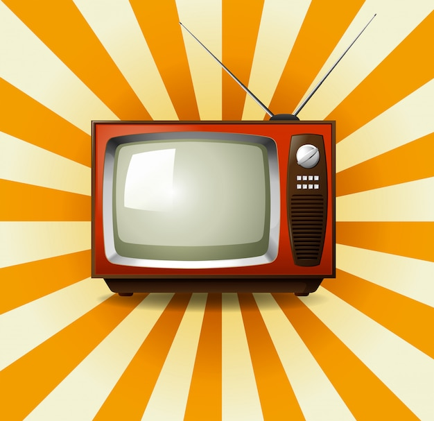 Retro televisione con starburst